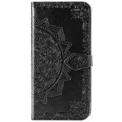 Mandala Booktype-Hülle Schwarz für das Samsung Galaxy S20