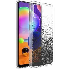 iMoshion Design Hülle Samsung Galaxy A31 - Spritzer - Schwarz