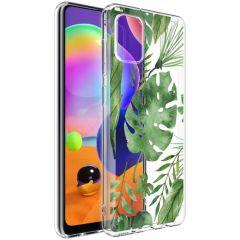 iMoshion Design Hülle Samsung Galaxy A31 - Blätter - Grün