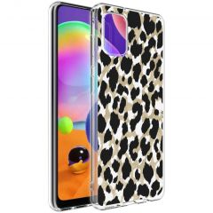 iMoshion Design Hülle Samsung Galaxy A31 - Leopard - Gold / Schwarz