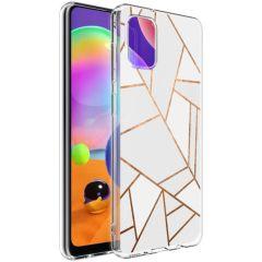iMoshion Design Hülle Galaxy A31 - Grafik-Kupfer - Weiß / Gold
