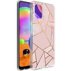 iMoshion Design Hülle Galaxy A31 - Grafik-Kupfer - Rosa / Gold