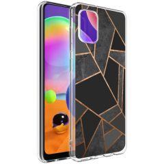iMoshion Design Hülle Galaxy A31 - Grafik-Kupfer - Schwarz / Gold