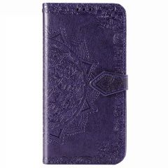Mandala Booktype-Hülle Xiaomi Mi Note 10 Lite - Violett