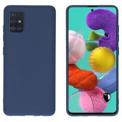 iMoshion Color TPU Hülle Dunkelblau für Samsung Galaxy A51