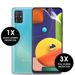 iMoshion Displayschutzfolie 3er-Pack + Kameraschutz Glas Galaxy A51