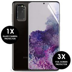 iMoshion Displayschutzfolie 3er-Pack + Kameraschutz Galaxy S20 Plus