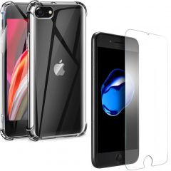 iMoshion Anti-Shock Backcover + Glass Protector iPhone 8 / 7