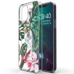 iMoshion Design Hülle iPhone 12 Mini - Dschungel - Grün / Rosa