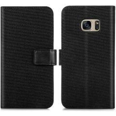 iMoshion Luxuriöse Canvas-Klapphülle Samsung Galaxy S7 - Schwarz