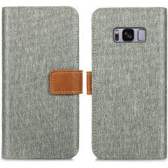iMoshion Luxuriöse Canvas-Klapphülle Samsung Galaxy S8 - Grau