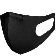 Blackspade Waschbarer Mundschutz für Erwachsene aus Stretch-Schwarz
