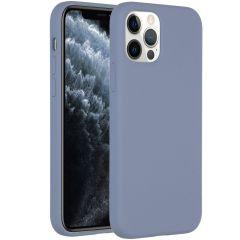 Accezz Liquid Silikoncase iPhone 12 (Pro) - Lavender Gray