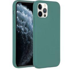 Accezz Liquid Silikoncase für das iPhone 12 (Pro) - Dunkelgrün