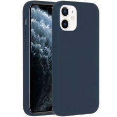 Accezz Liquid Silikoncase  für das iPhone 12 Mini - Dunkeblauw