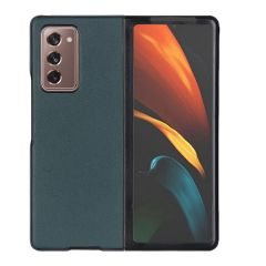 Litchi Echtleder Hülle Samsung Galaxy Z Fold2 - Grün