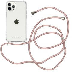 iMoshion Backcover mit Band iPhone 12 (Pro) - Roségold