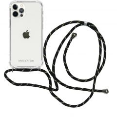 iMoshion Backcover mit Band iPhone 12 (Pro) - Schwarz / Gold