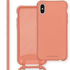 iMoshion Color Backcover mit abtrennbarem Band iPhone Xs / X - Peach