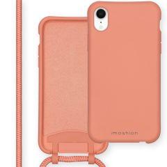 iMoshion Color Backcover mit abtrennbarem Band iPhone Xr - Peach