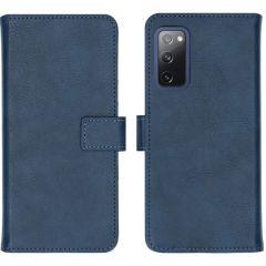 iMoshion Luxuriöse Buchtyp-Hülle Samsung Galaxy S20 FE - Dunkelblau