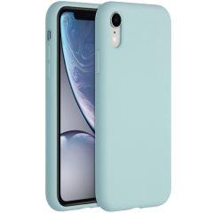 Accezz Liquid Silikoncase für das iPhone Xr - Hellblau