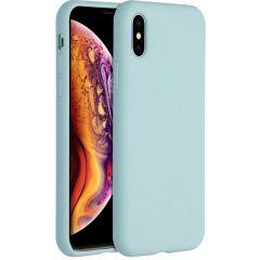 Accezz Liquid Silikoncase für das iPhone Xs / X - Hellblau