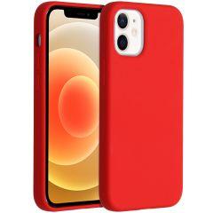 Accezz Liquid Silikoncase  für das iPhone 12 Mini - Rot