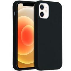 Accezz Liquid Silikoncase  für das iPhone 12 Mini - Schwarz