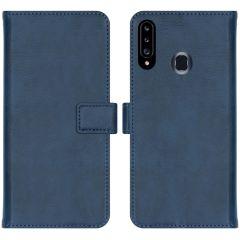 iMoshion Luxuriöse Buchtyp-Hülle Samsung Galaxy A20s - Dunkelblau