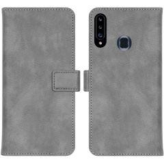 iMoshion Luxuriöse Buchtyp-Hülle Samsung Galaxy A20s - Grau