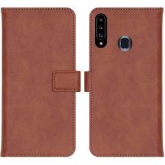 iMoshion Luxuriöse Buchtyp-Hülle Samsung Galaxy A20s - Braun