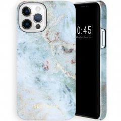 Selencia Maya Fashion Backcover iPhone 12 (Pro) - Marble Blue