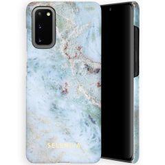 Selencia Maya Fashion Backcover Samsung Galaxy S20 - Marble Blue