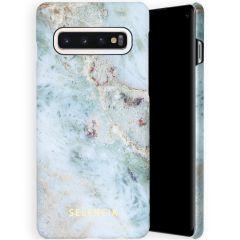 Selencia Maya Fashion Backcover Samsung Galaxy S10 - Marble Blue