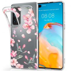 iMoshion Design Hülle Huawei P40 - Blume - Rosa