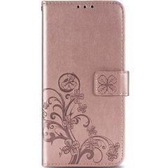 Kleeblumen Booktype Hülle Samsung Galaxy A21s - Roségold