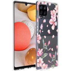 iMoshion Design Hülle Samsung Galaxy A42 - Blume - Rosa