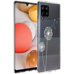 iMoshion Design Hülle Samsung Galaxy A42 - Pusteblume - Weiß