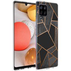 iMoshion Design Hülle Galaxy A42 - Grafik-Kupfer - Schwarz / Gold