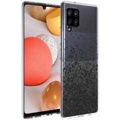 iMoshion Design Hülle Samsung Galaxy A42 - Spritzer - Schwarz