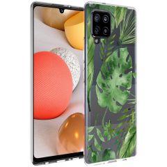iMoshion Design Hülle Samsung Galaxy A42 - Blätter - Grün
