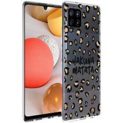 iMoshion Design Hülle Samsung Galaxy A42 - Leopard - Braun / Schwarz