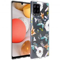 iMoshion Design Hülle Samsung Galaxy A42 - Blume - Weiß