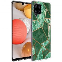 iMoshion Design Hülle Galaxy A42 - Grafik-Kupfer - Grün / Gold