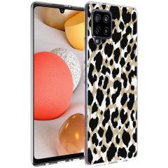 iMoshion Design Hülle Samsung Galaxy A42 - Leopard - Gold / Schwarz