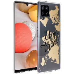 iMoshion Design Hülle Samsung Galaxy A42 - Let's Go Travel - Schwarz