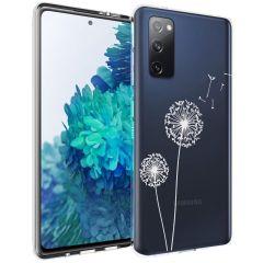 iMoshion Design Hülle Samsung Galaxy S20 FE - Pusteblume - Weiß