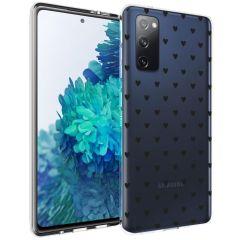 iMoshion Design Hülle Samsung Galaxy S20 FE - Herzen - Schwarz