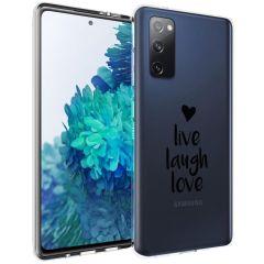 iMoshion Design Hülle Galaxy S20 FE - Live Laugh Love - Schwarz